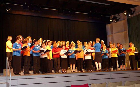 Konzert mit dem finnischen Chor Sekaset während der Finnland-Tour 2008