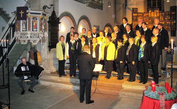Chorkonzert zum Advent in der Stiftskirche Obernkirchen am 10.12.2010
