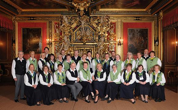 Schütte-Chor im Goldenen Saal des Schlosses Bückeburg