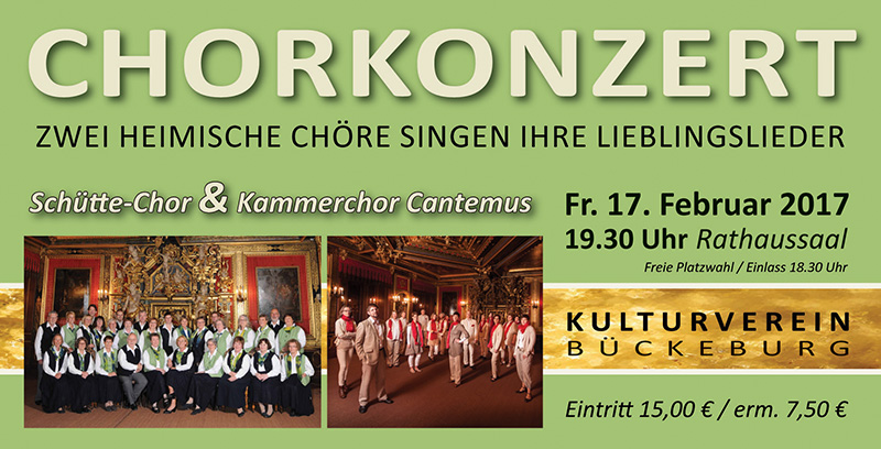 Kammerchor Cantemus & Schütte-Chor: Zwei heimische Chöre singen ihre Lieder