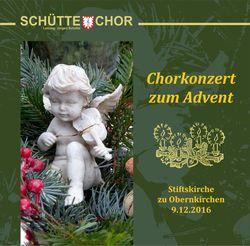 "Inhalt der CD ""Chorkonzert zum Advent 2016"""