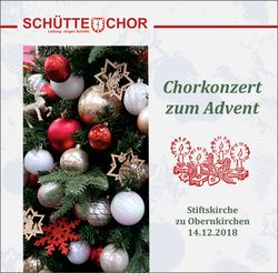"Inhalt der CD ""Chorkonzert zum Advent 2018"""