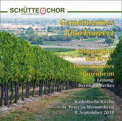 """Inhalt der CD """"Gemeinsames Chorkonzert Weinolsheim 2018"""""""
