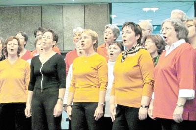 Der Schütte-Chor bei der Vorstellung seiner neuen CD